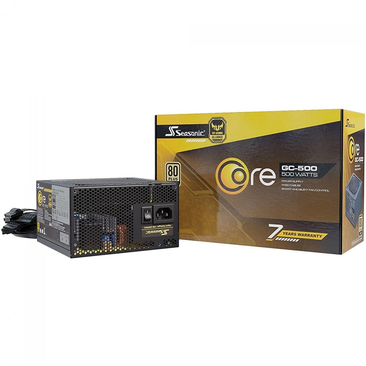 Fonte Seasonic Core GC-500, 500W, 80 Plus Gold