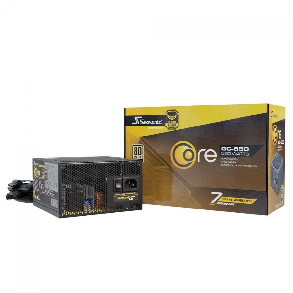 Fonte Seasonic Core GC-550, 550W, 80 Plus Gold