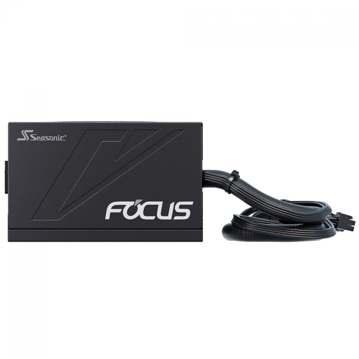 Fonte Seasonic Focus GM-750, 750W, 80 Plus Gold, Semi Modular