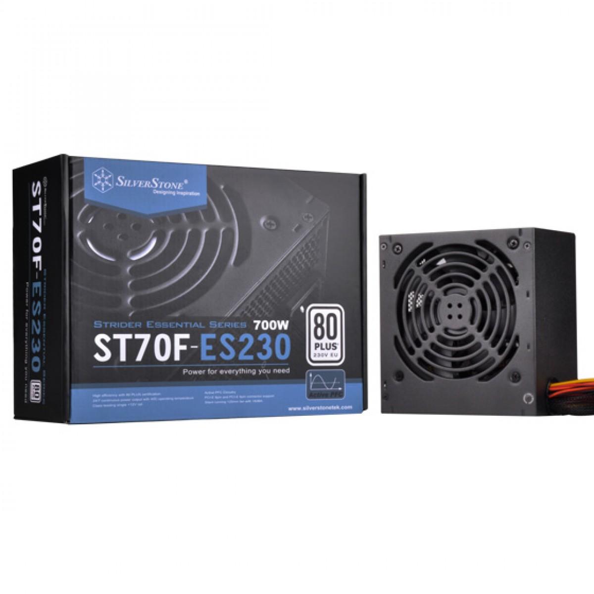 Fonte SilverStone SST-ST70F-ES230, 700W, 80 Plus, PFC Ativo, SST-ST70F-ES230 (APENAS 220V)