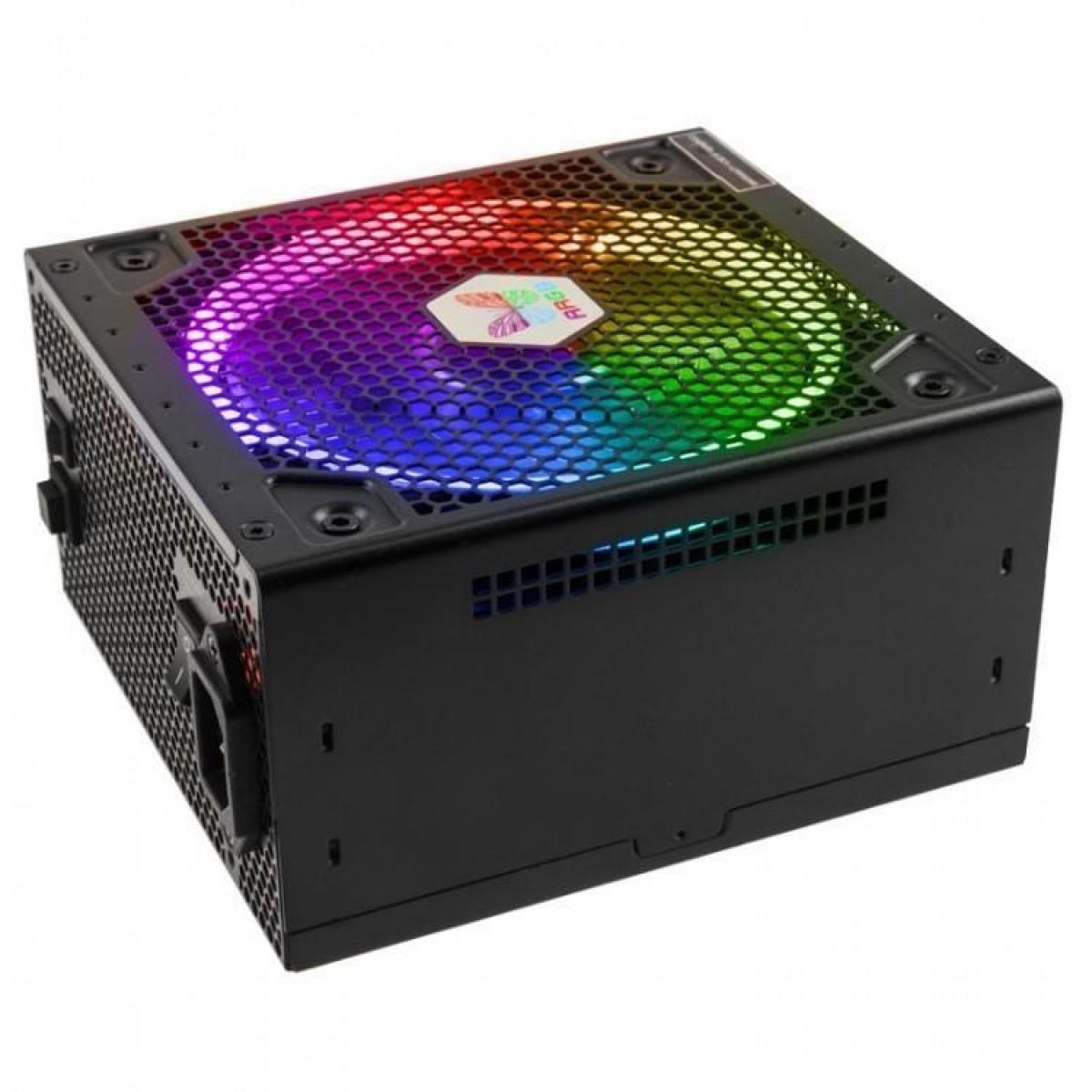 Fonte Super Flower LEADEX III ARGB 550W, 80 Plus Gold, PFC Ativo, Full Modular, SF-550F14RG(BK)