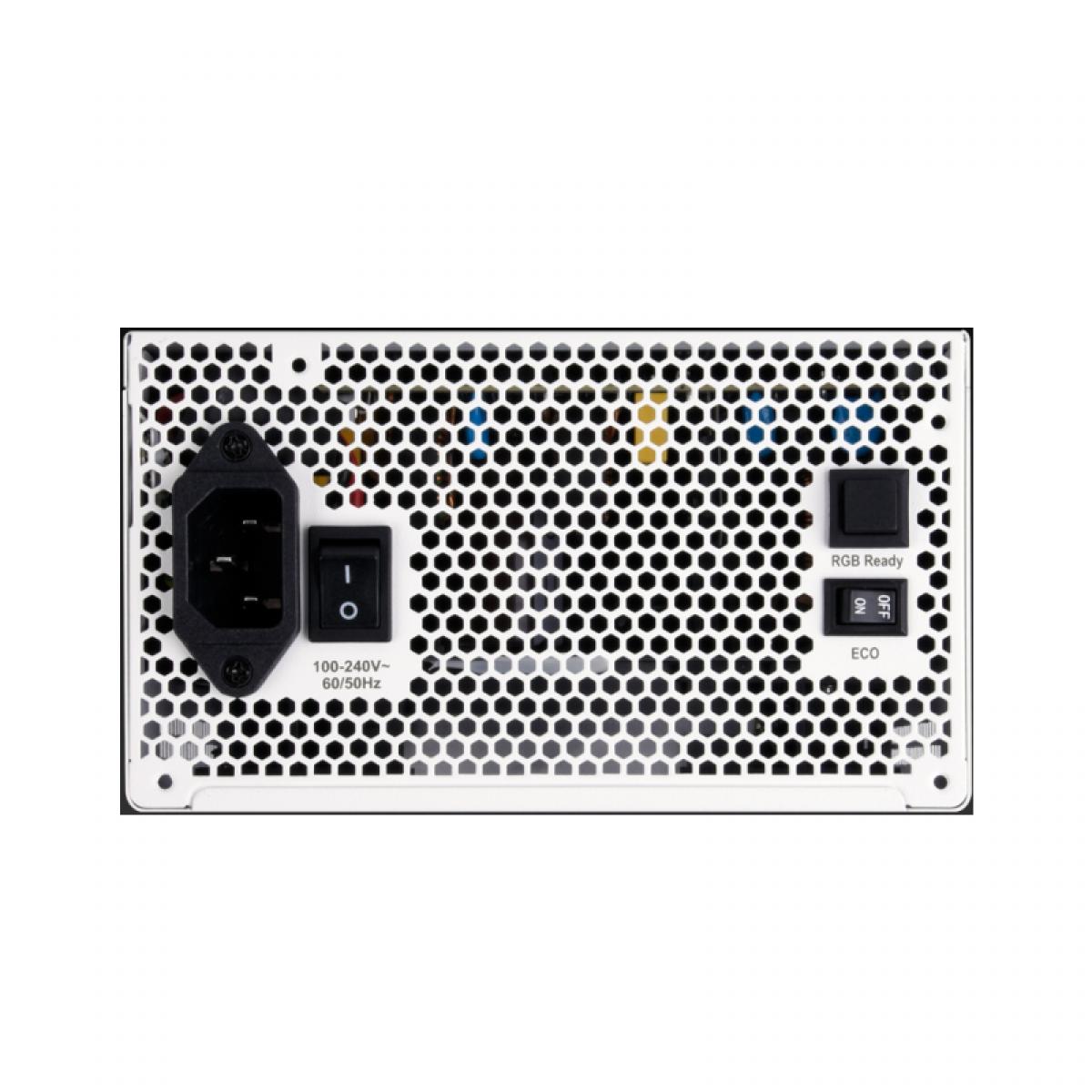 Fonte Super Flower LEADEX III ARGB 650W, 80 Plus Gold, PFC Ativo, Full Modular, SF-650F14RG(WH) - Open Box