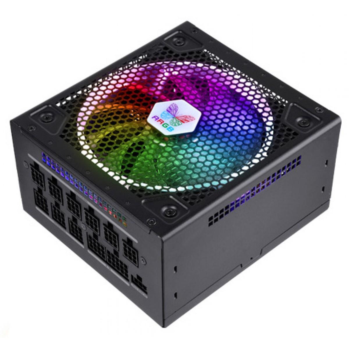 Fonte Super Flower LEADEX III ARGB PRO 850W, 80 Plus Gold, PFC Ativo, Full Modular, SF-850F14RG V2.0