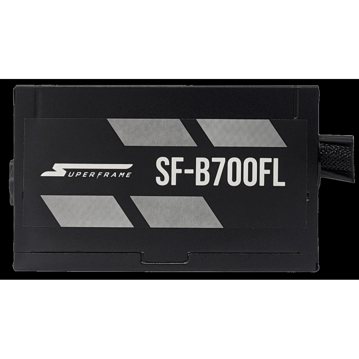 Fonte SuperFrame, 700W, 80 Plus Bronze, PFC Ativo, Cabos Flat, SF-B700FL