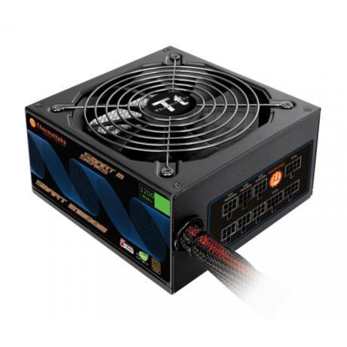 Fonte Thermaltake Smart SP-1200M 1200W, 80 Plus Bronze, PFC Ativo, Semi Modular, SP-1200M