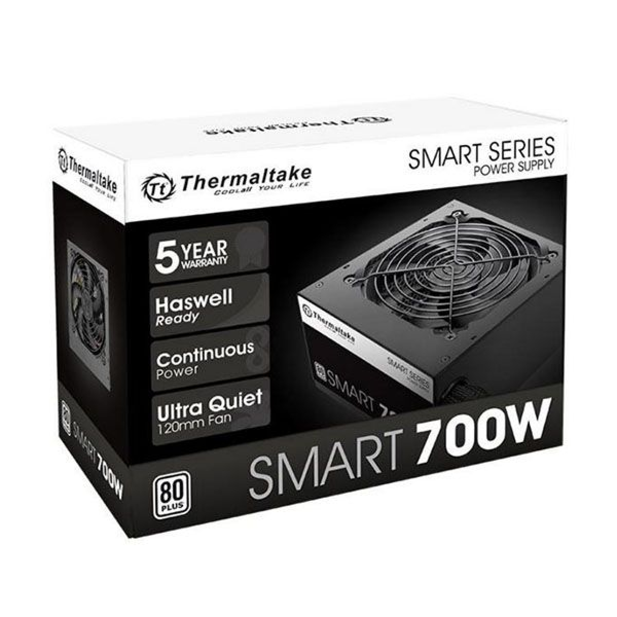 Fonte Thermaltake Smart Series 700W PS-SPD-0700 PFC Ativo Cabos Flat