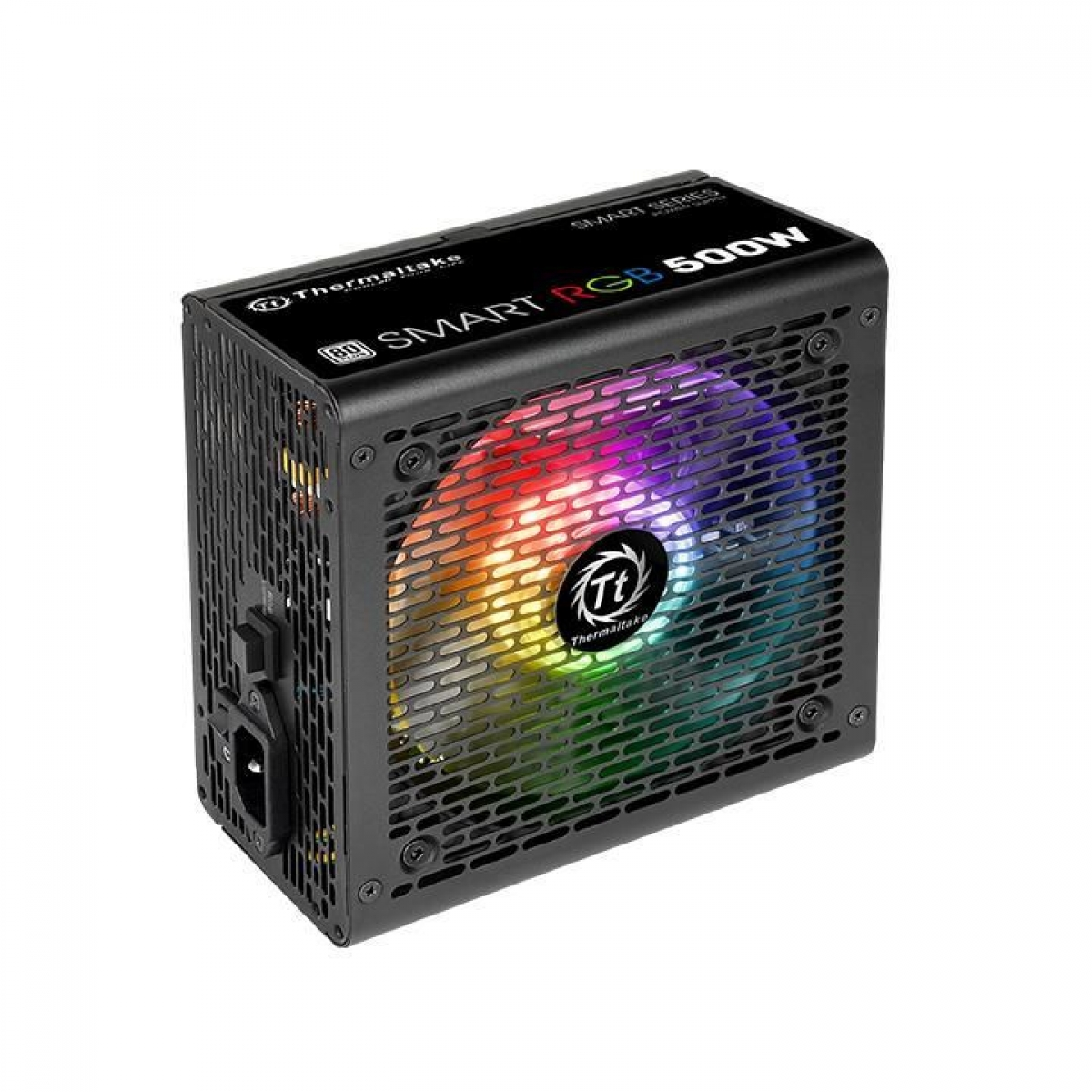 Fonte Thermaltake Smart Series RGB 500W, 80 plus White, PFC Ativo, PS-SPR-0500NHFAWB-1