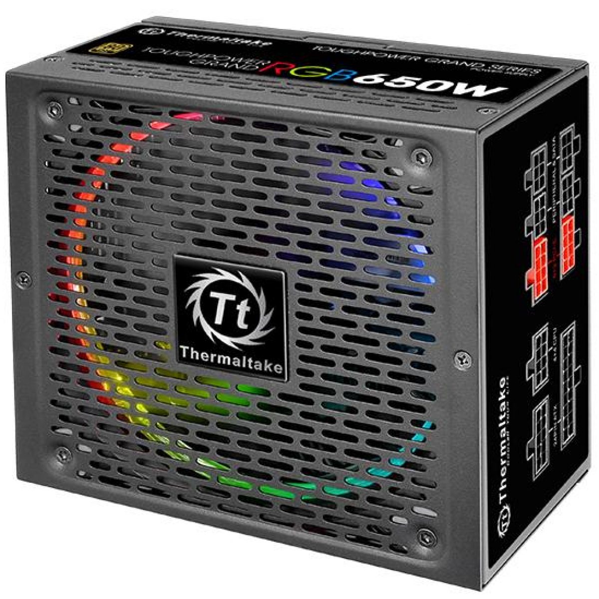 Fonte Thermaltake Toughpower Grand RGB, 650W, 80 Plus Gold, PFC Ativo, Full Modular, PS-TPG-0650FPCGUS-R