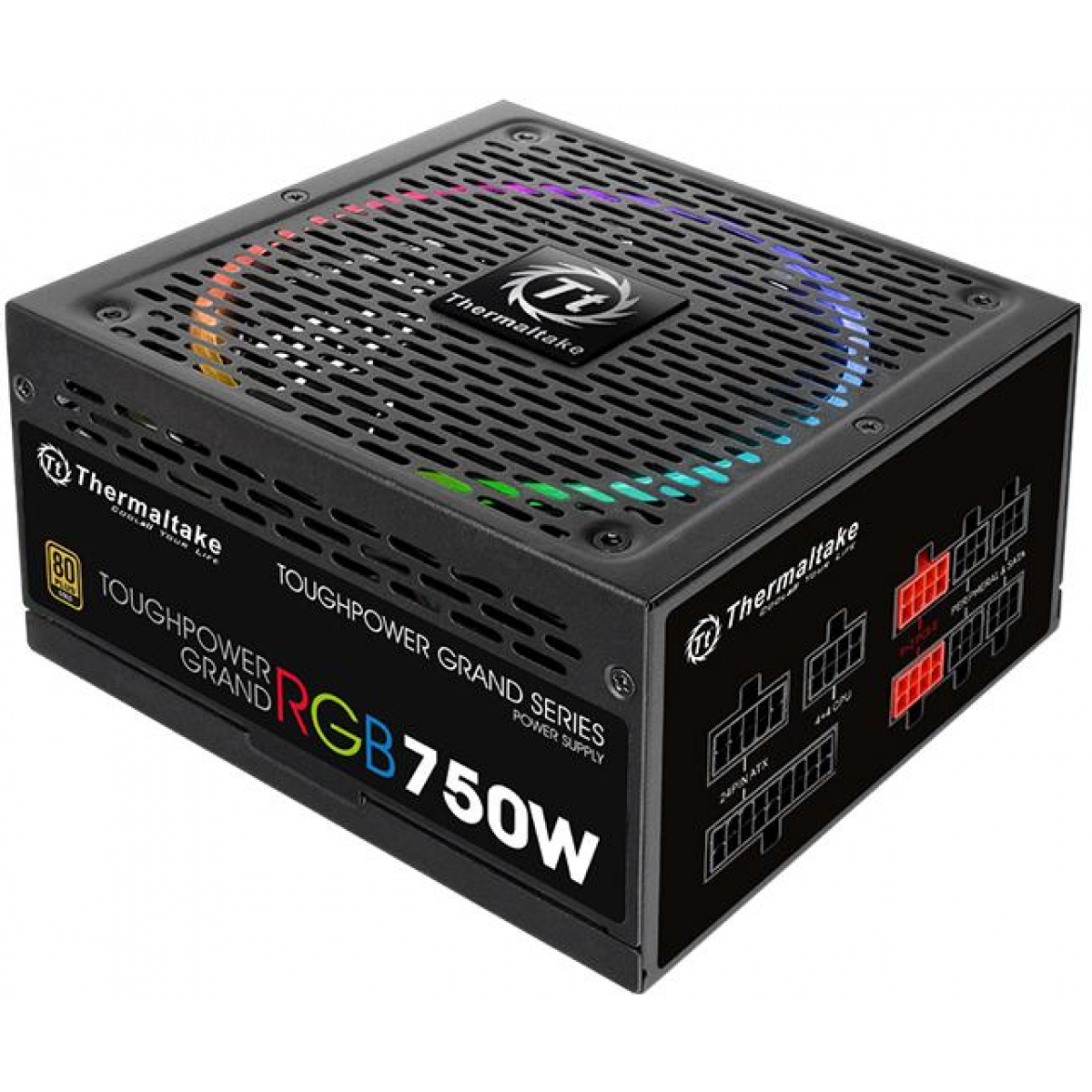 Fonte Thermaltake Toughpower Grand RGB 750W, 80 Plus Gold, PFC Ativo, Full Modular, PS-TPG-0750FPC