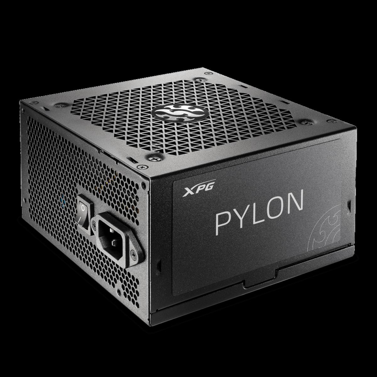 Fonte XPG, Pylon, 650W, 80 Plus Bronze, PFC Ativo