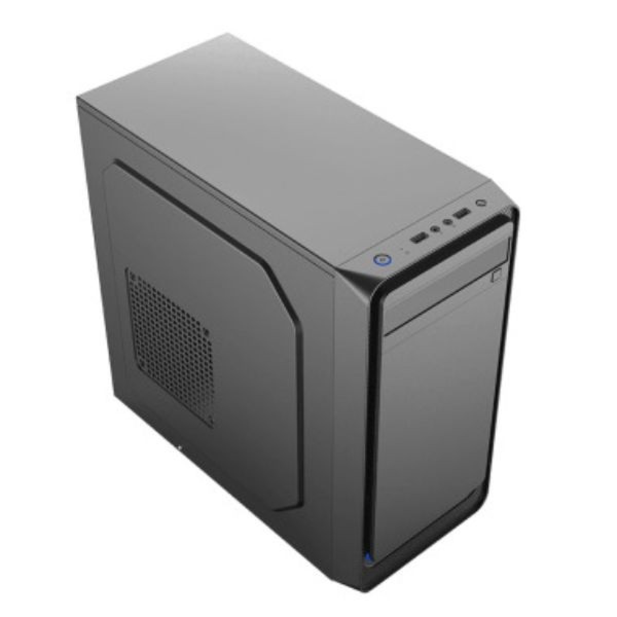 Gabinete Gamemax 6503BK, Micro Tower, Black, Com fonte, Sem Fan