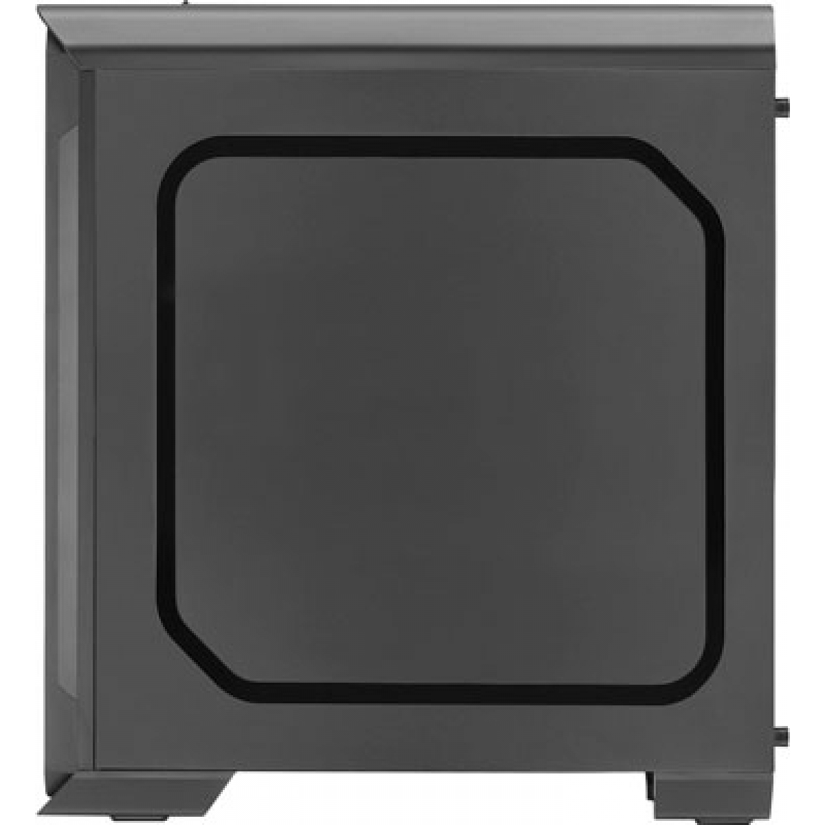 Gabinete Gamer Aerocool Aero 500G RGB BK, Mid Tower, Com 1 Fan, Vidro Temperado, Black, Sem Fonte