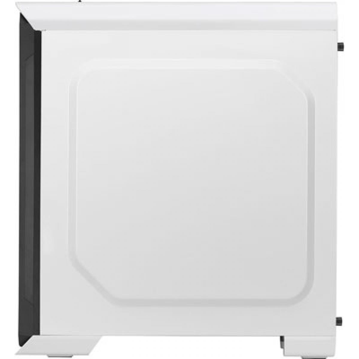 Gabinete Gamer Aerocool Aero 500G RGB, Mid Tower, Com 1 Fan, Vidro Temperado, White, Sem Fonte