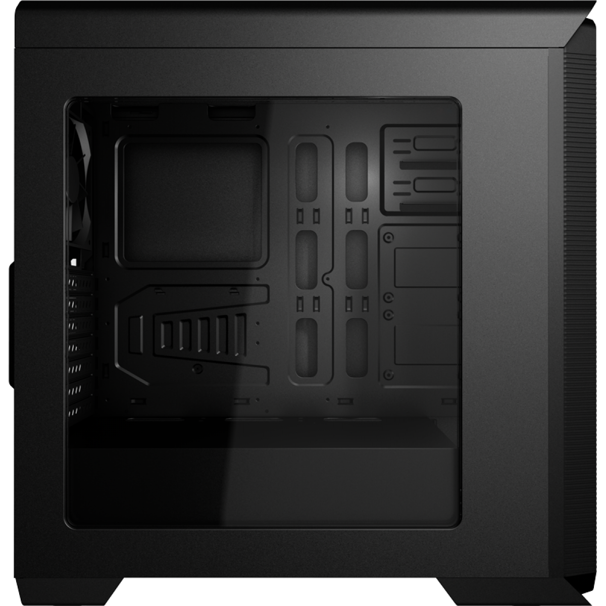 Gabinete Gamer Aerocool Aero 800, Mid Tower, Com 1 Fan, Black, S-Fonte
