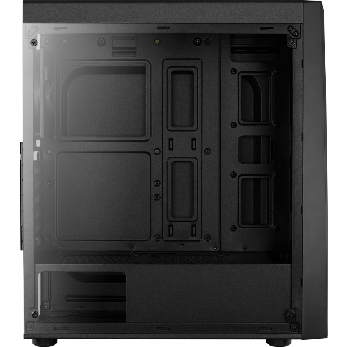 Gabinete Gamer Aerocool Bolt RGB, Mid Tower, Com 1 Fan, Lateral em Acrílico, Black, S-Fonte