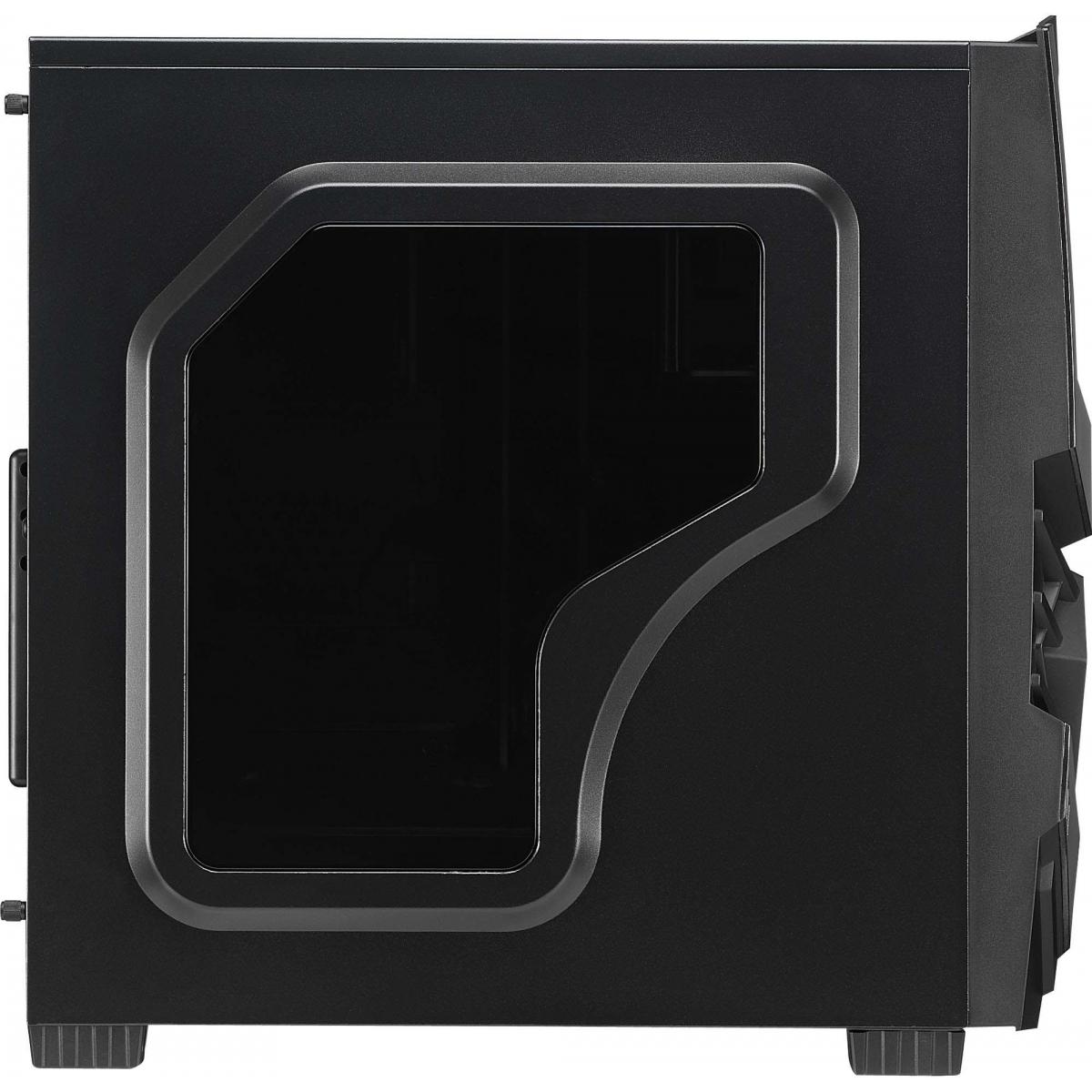 Gabinete Gamer Aerocool Cyclops Black Edition, Mid Tower, Com 1 Fan, Black, S-Fonte, EN52933