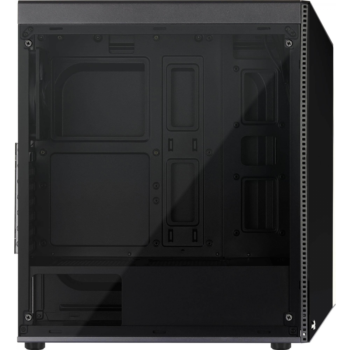 Gabinete Gamer Aerocool Shard RGB, Mid Tower, Com 1 Fan, Black, S-Fonte