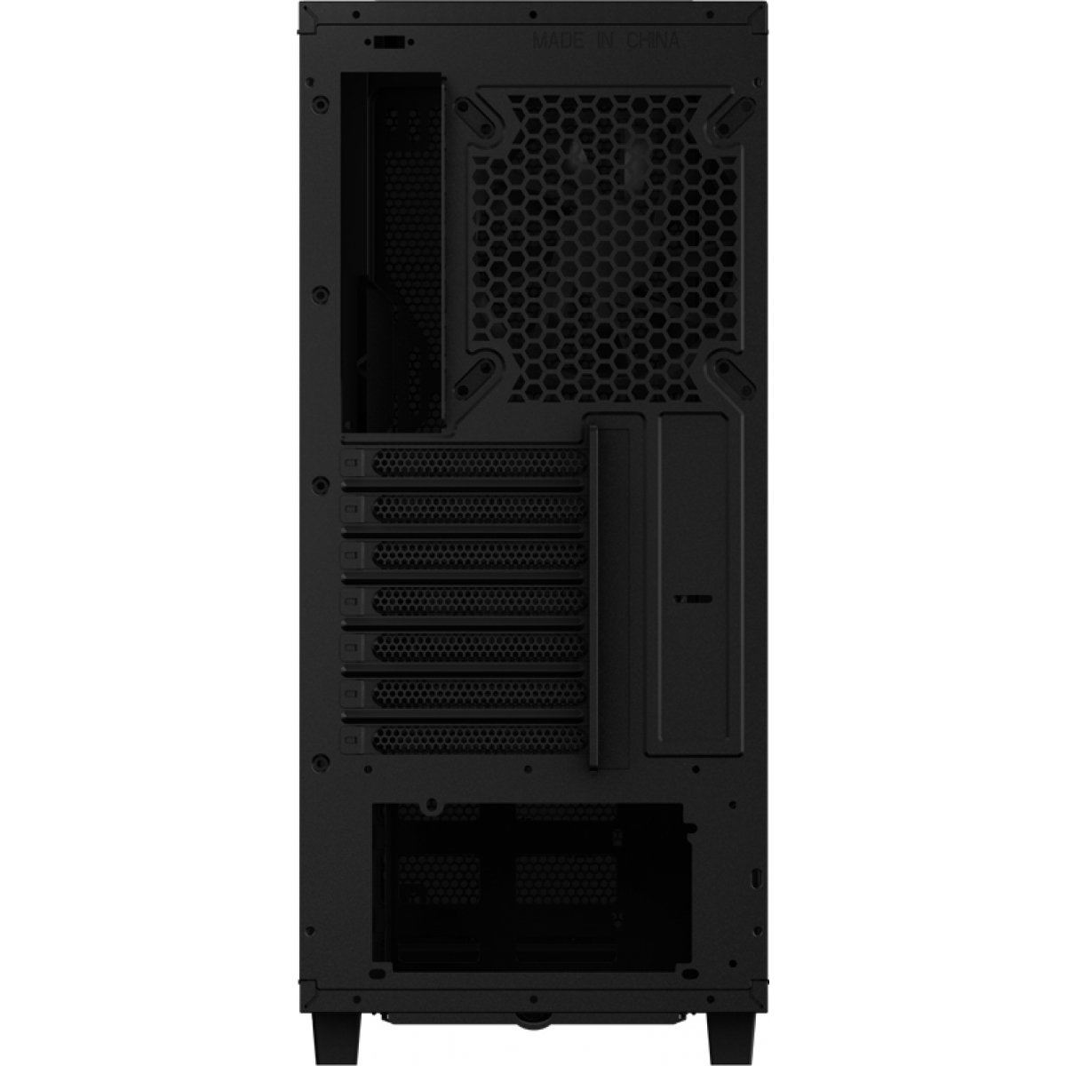 Gabinete Gamer Aerocool Project 7, Mid Tower, Com 1 Fan, Vidro Temperado, Black, Sem Fonte, P7-C0