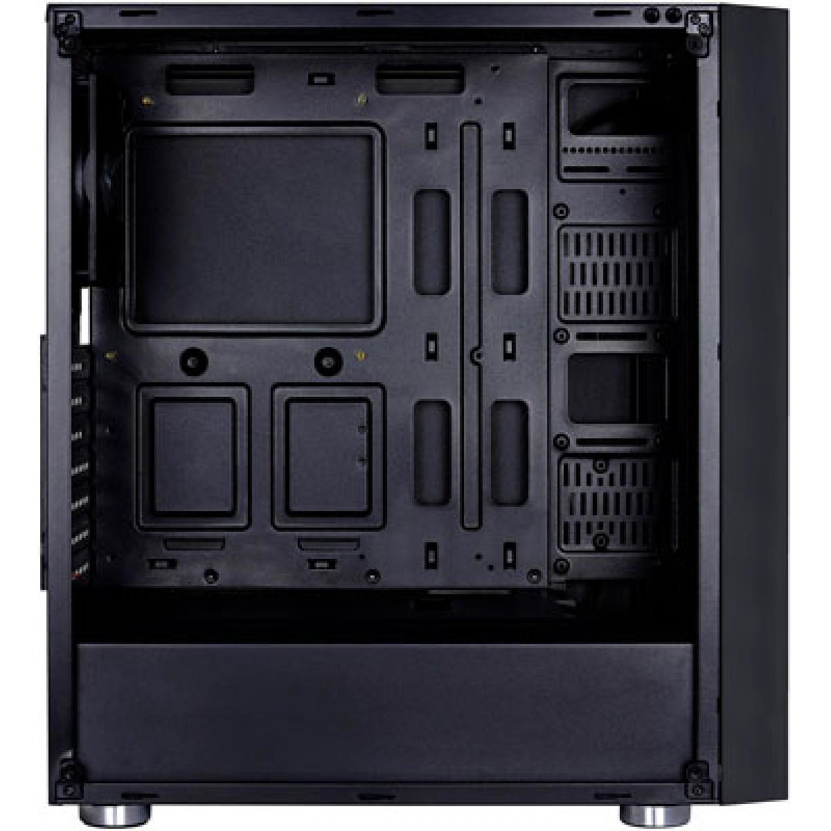 Gabinete Gamer Aerocool Quartz RGB, Mid Tower, Com 4 Fans, Vidro Temperado, Black, Sem Fonte, 64790