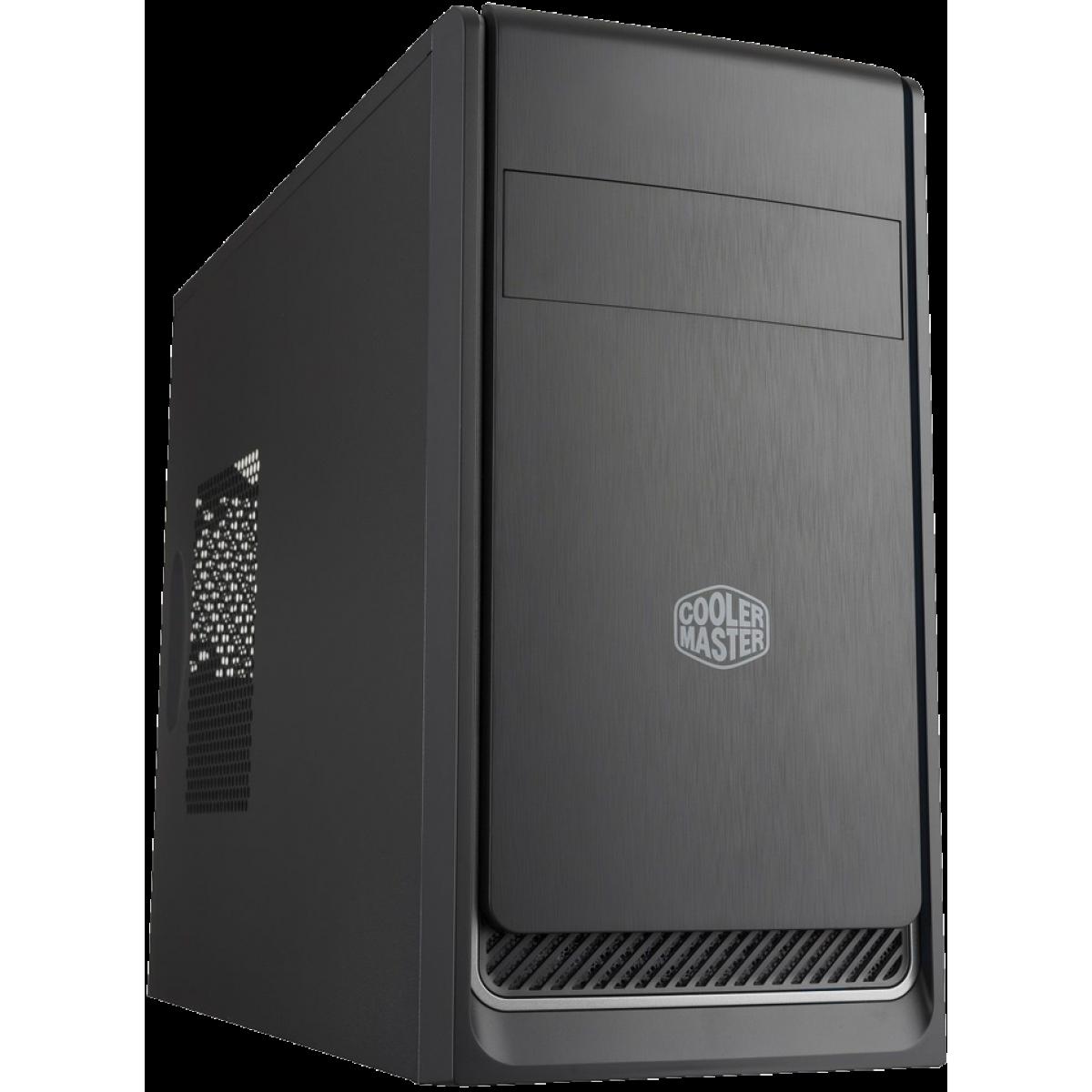 Gabinete Gamer Cooler Master Masterbox E300L, Mini Tower, Com 1 Fan, Black, Sem Fonte, MCB-E300L-KN5N-B02-Silver
