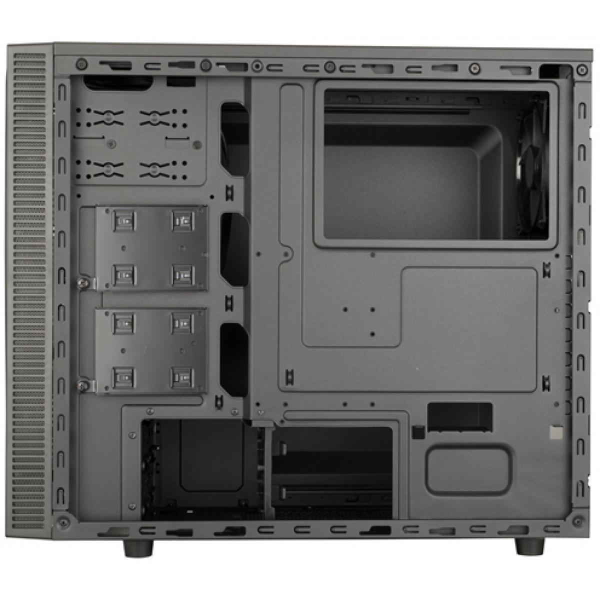 Gabinete Gamer Cooler Master MASTERBOX E500L, Mid Tower, Com 2 Fans, Black, S-Fonte, MCB-E500L-KA5N-S00-Blue