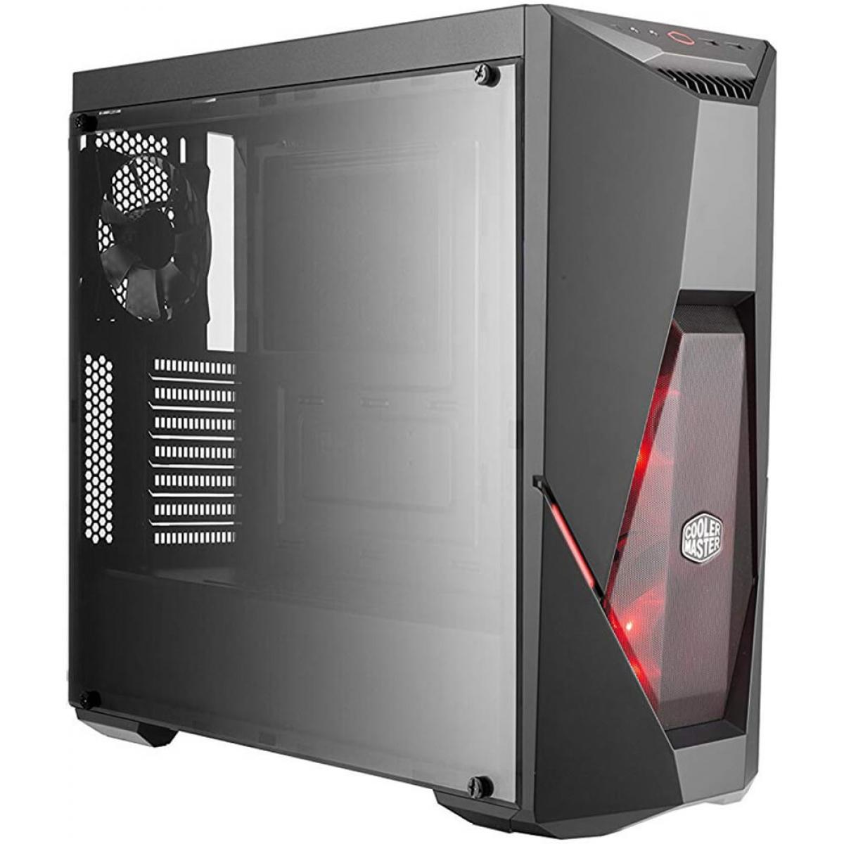Gabinete Gamer Cooler Master, Masterbox K500L, Mid Tower, Acrílico, Black, Sem Fonte, Com 3 Fans