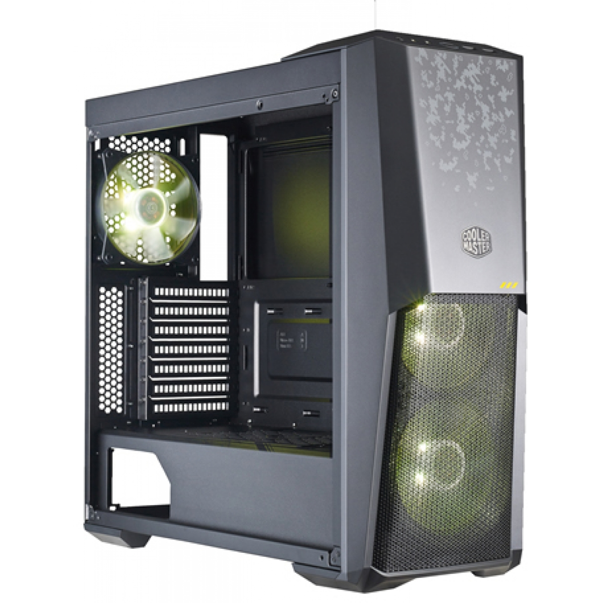 Gabinete Gamer Cooler Master Masterbox MB500 Tuf Gaming, Mid Tower, Com 3 Fans RGB, Vidro Temperado, Black, Sem Fonte, MCB-B500D-KGNN-TUF