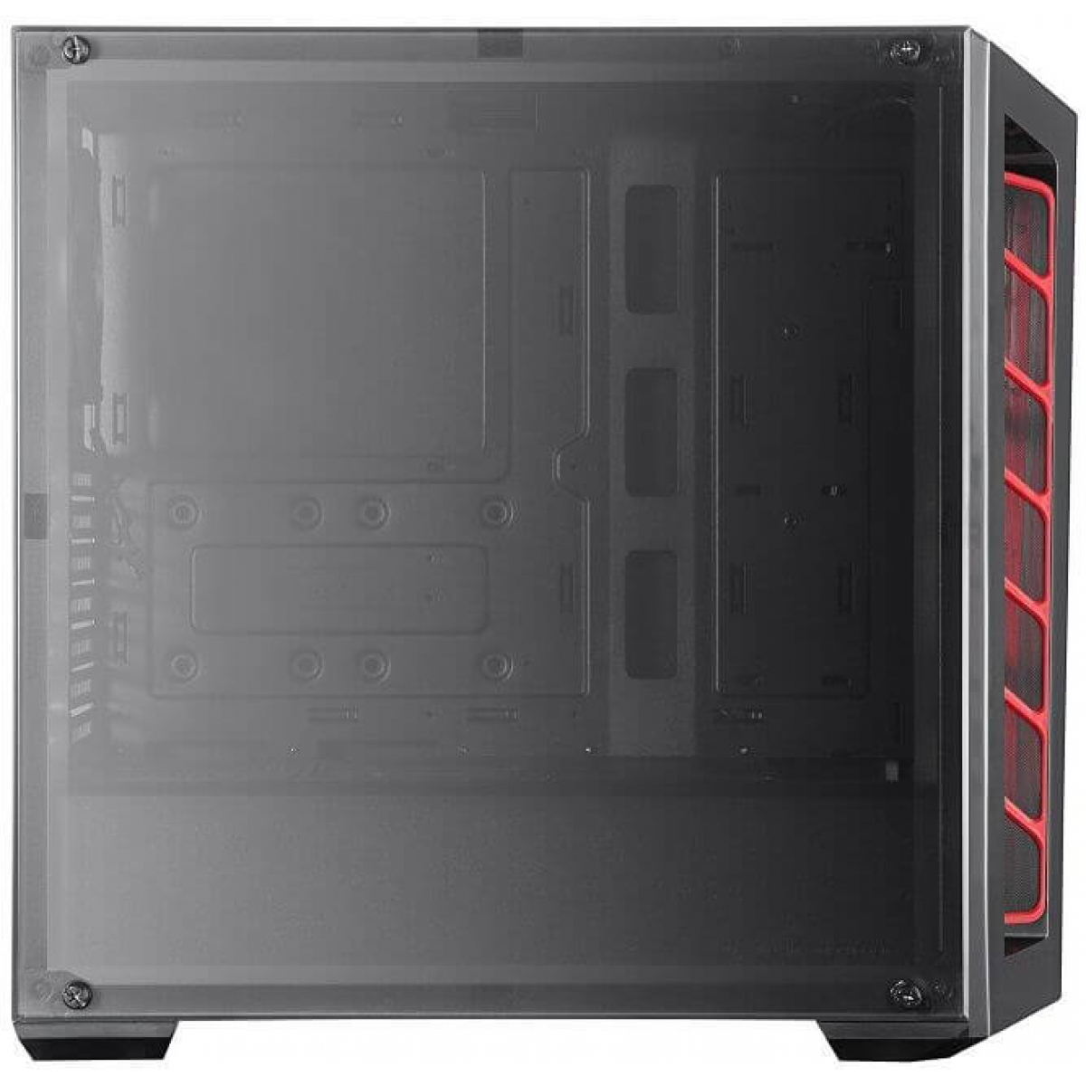 Gabinete Gamer Cooler Master Masterbox MB520, Mid Tower, Com 1 Fan, Black, S-Fonte, MCB-B520-KANN-S00-Red