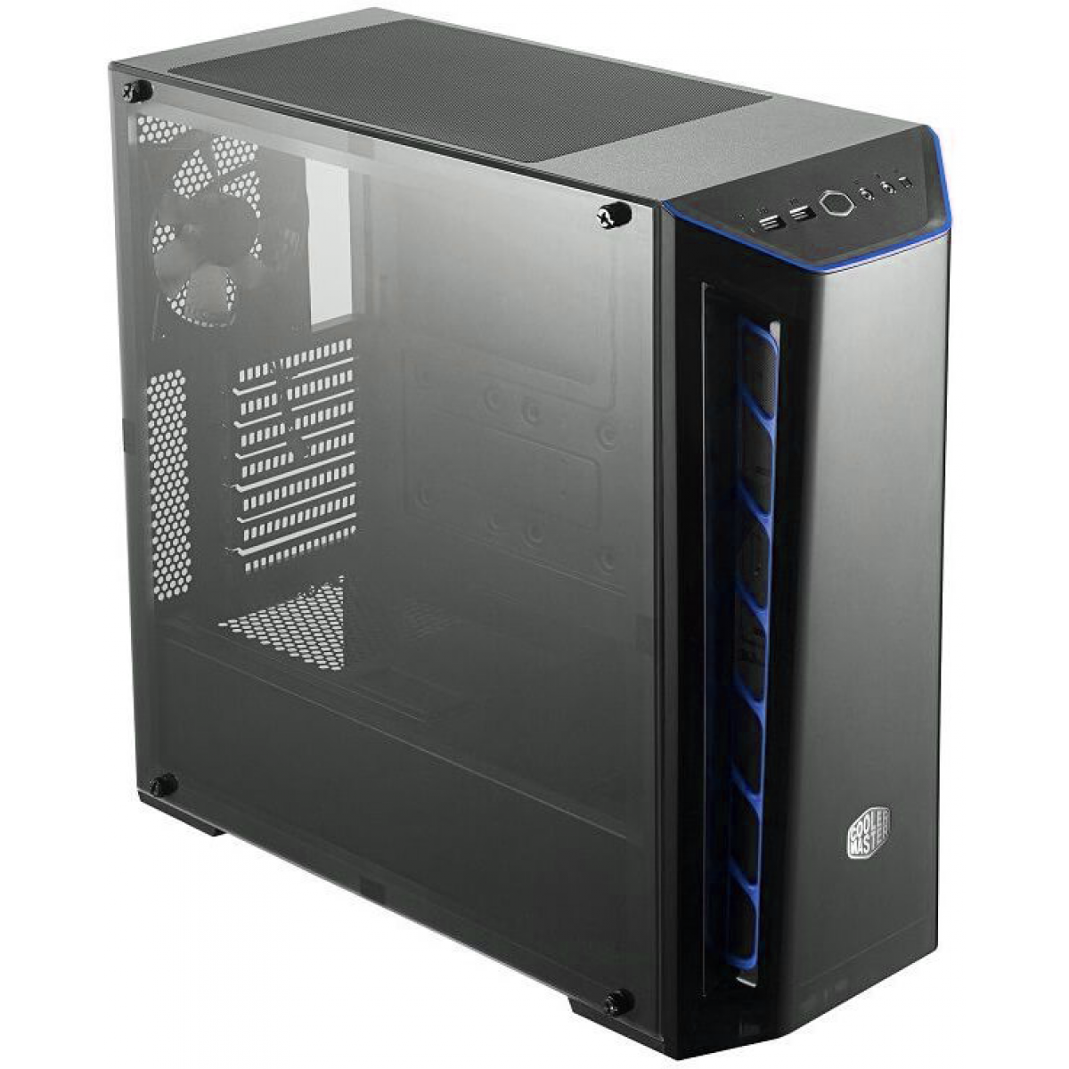 Gabinete Gamer Cooler Master Masterbox MB520, Mid Tower, Com 1 Fan, Black, Sem Fonte, MCB-B520-KANN-S03-Blue