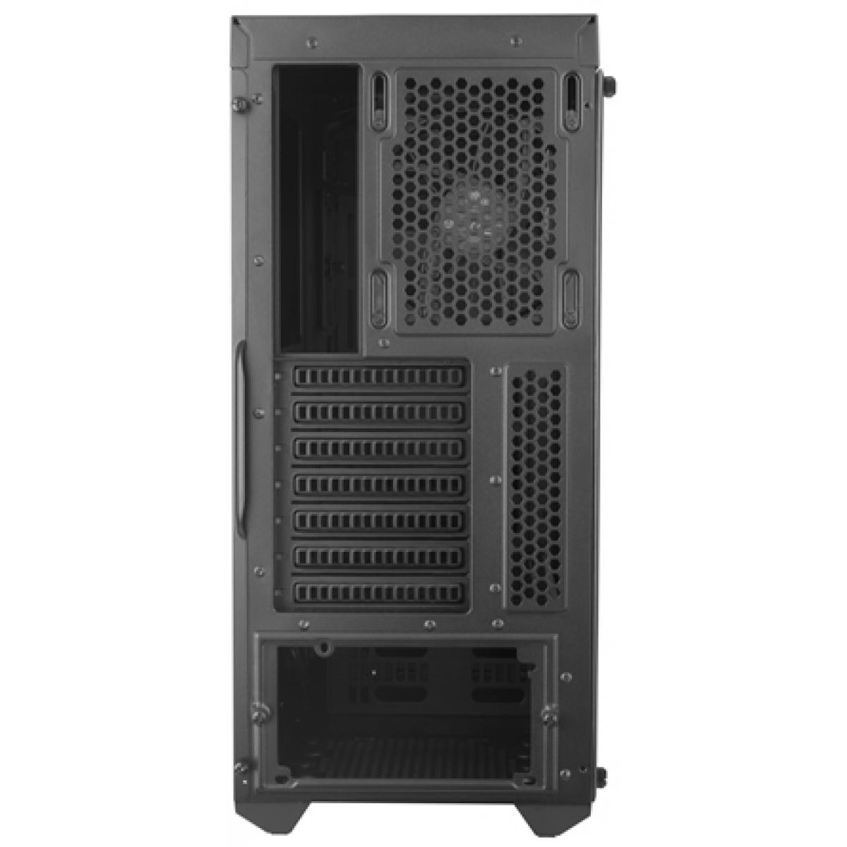 Gabinete Gamer Cooler Master Masterbox MB600L, Mid Tower, Lateral em Acrílico, Black, Sem Fonte, Com 1 Fan, MCB-B600L-KANN-S01