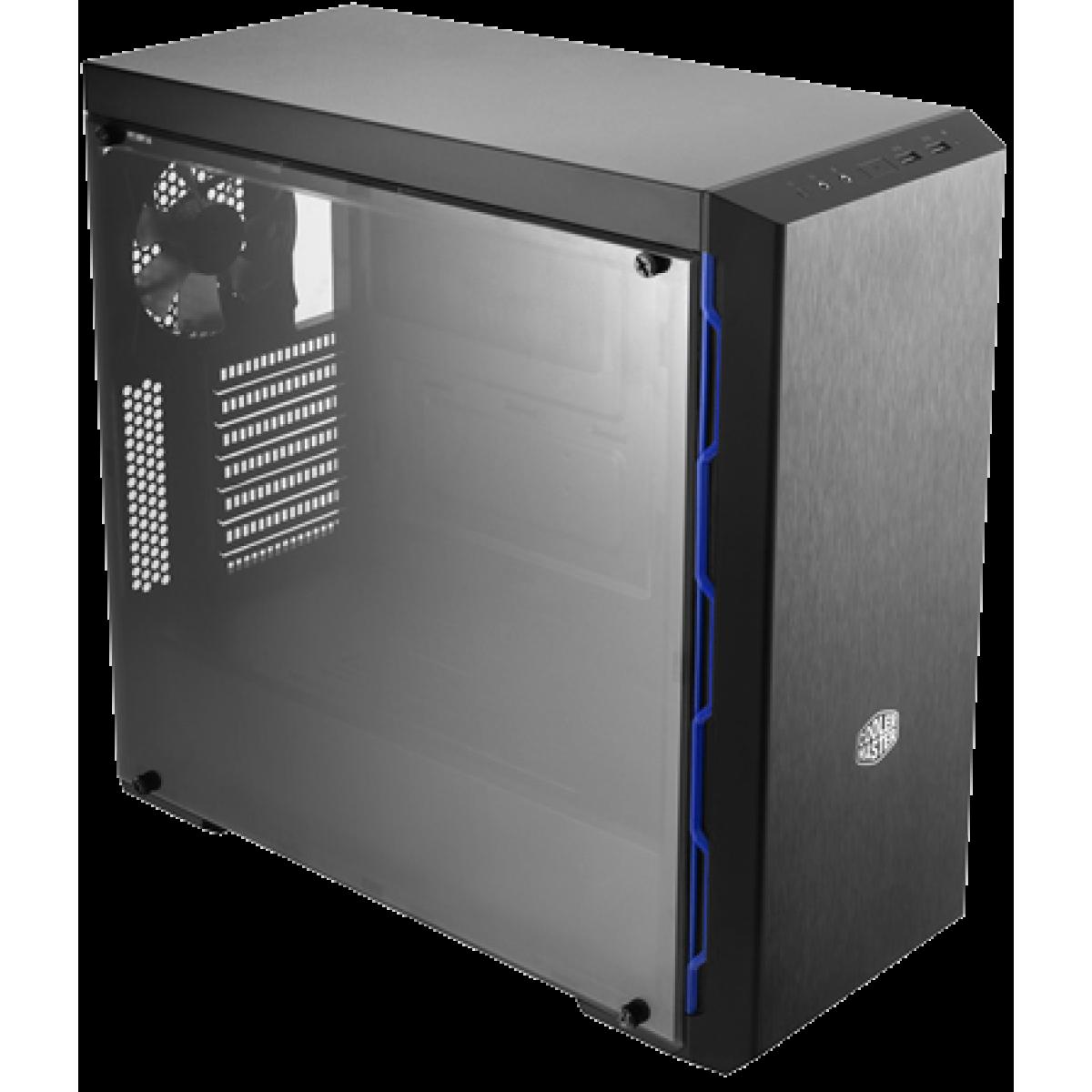 Gabinete Gamer Cooler Master Masterbox MB600L, Mid Tower, Com 1 Fan, Lateral em Acrílico, Black, S-Fonte, MCB-B600L-KANN-S01