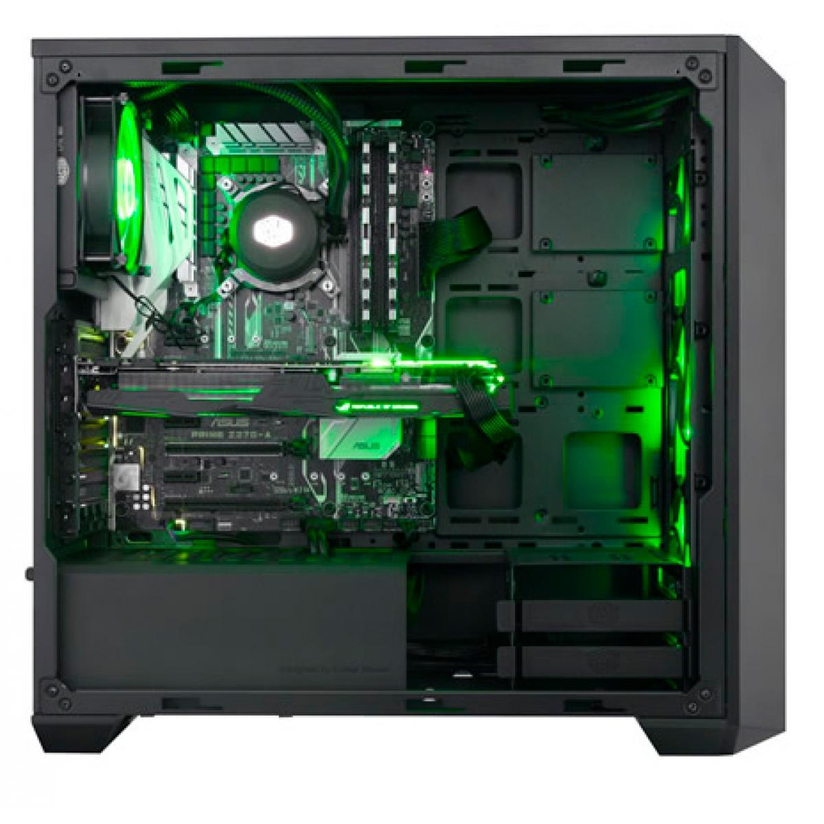 Gabinete Gamer Cooler Master MasterBox Pro 5 RGB, Mid Tower, Vidro Temperado, Black, Sem Fonte, Com 4 Fans, MCY-B5P2-KWGN-01