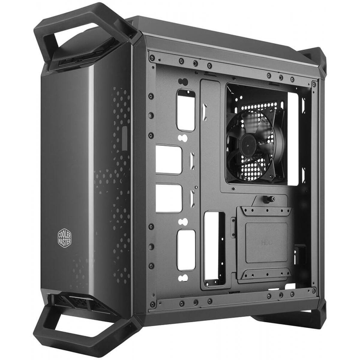 Gabinete Gamer Cooler Master Masterbox Q300P, Mini Tower, Lateral em Acrílico, Black, Sem Fonte, Com 3 Fans, MCB-Q300P-KANN-S02