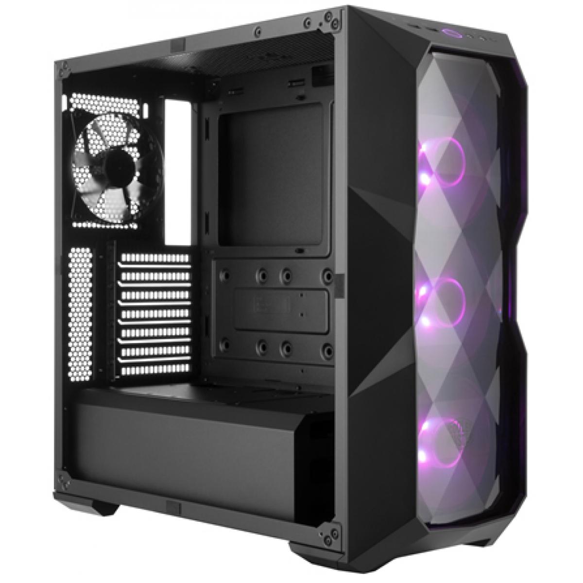 Gabinete Gamer Cooler Master Masterbox TD500 RGB, Mid Tower, Black, Sem Fonte, Com 4 Fans, MCB-D500D-KANN-S00