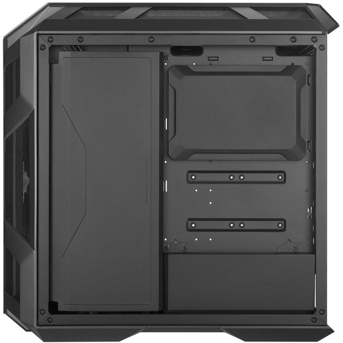 Gabinete Gamer Cooler Master MasterCase H500M, Mid Tower, Com 3 Fans, Vidro Temperado Black, S-Fonte, MCM-H500M-IHNN-S00