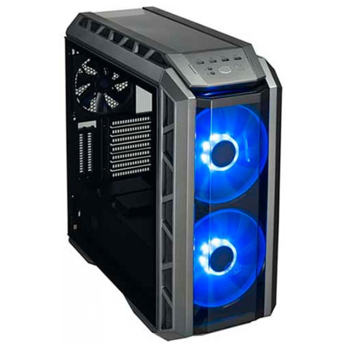 Gabinete Gamer Cooler Master MasterCase H500P RGB, Mid Power, Com 3 Fans, Vidro Temperado, Black, Sem Fonte, MCM-H500P-MGNN-S00