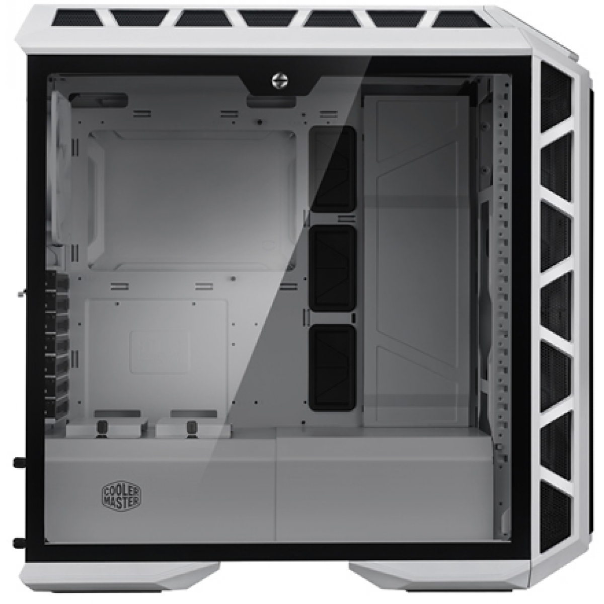 Gabinete Gamer Cooler Master MasterCase H500P Mesh Edition, Mid Tower, Com 3 Fans, Vidro Temperado, White, Sem Fonte, MCM-H500P-WGNN-S00