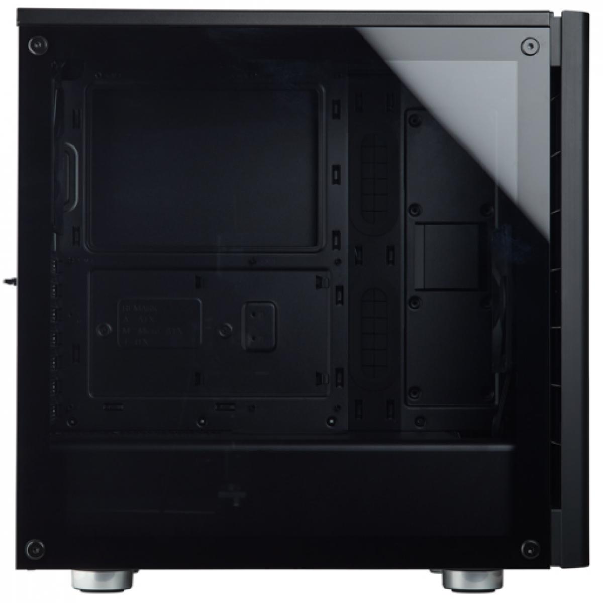 Gabinete Gamer Corsair Carbide 275R, Mid Tower, Com 2 Fans, Vidro Temperado, Black, Sem Fonte, CC-9011132-WW