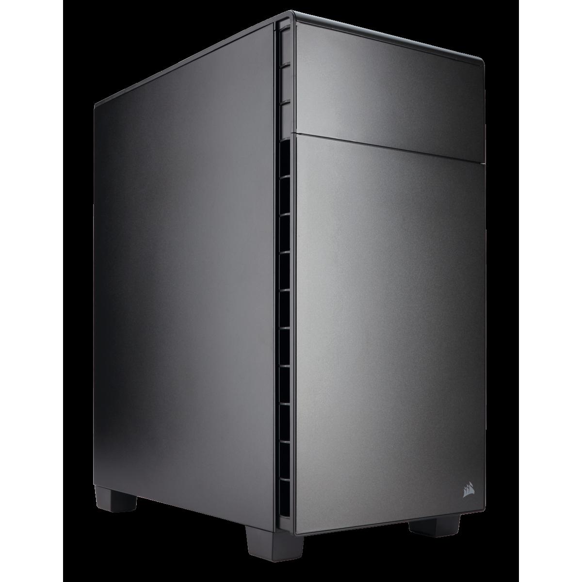 Gabinete Gamer Corsair Carbide Quiet 600Q Inverse, Full Tower, Com 3 Fans, Black, S-Fonte, CC-9011080-WW