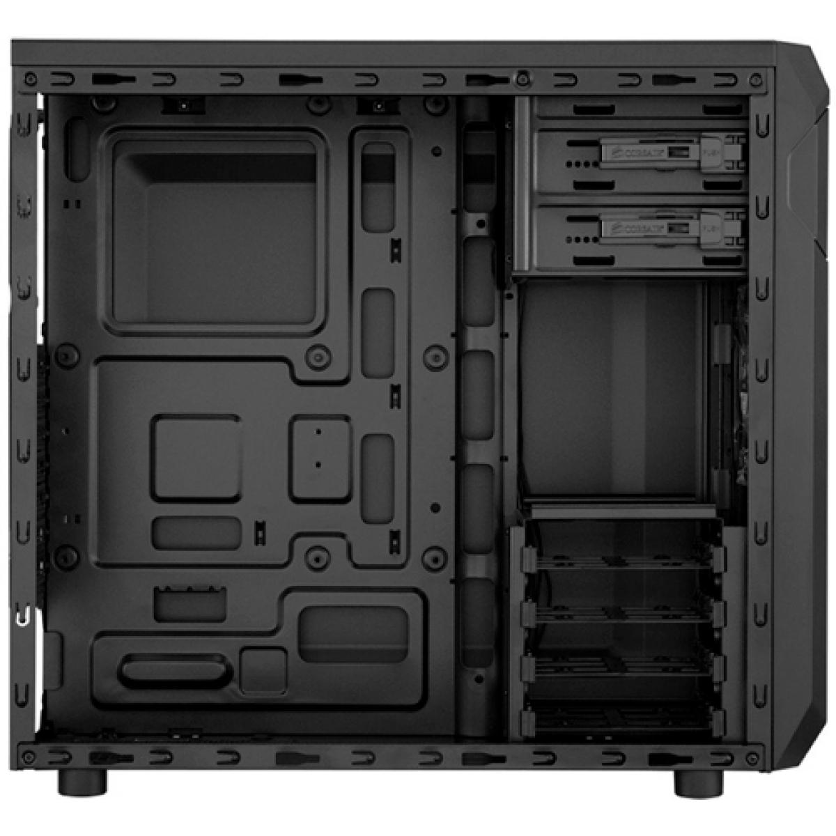Gabinete Gamer Corsair Carbide Spec-01, Mid Tower, Com 1 Fan, Lateral em Acrílico, Black, S-Fonte, CC-9011050-WW