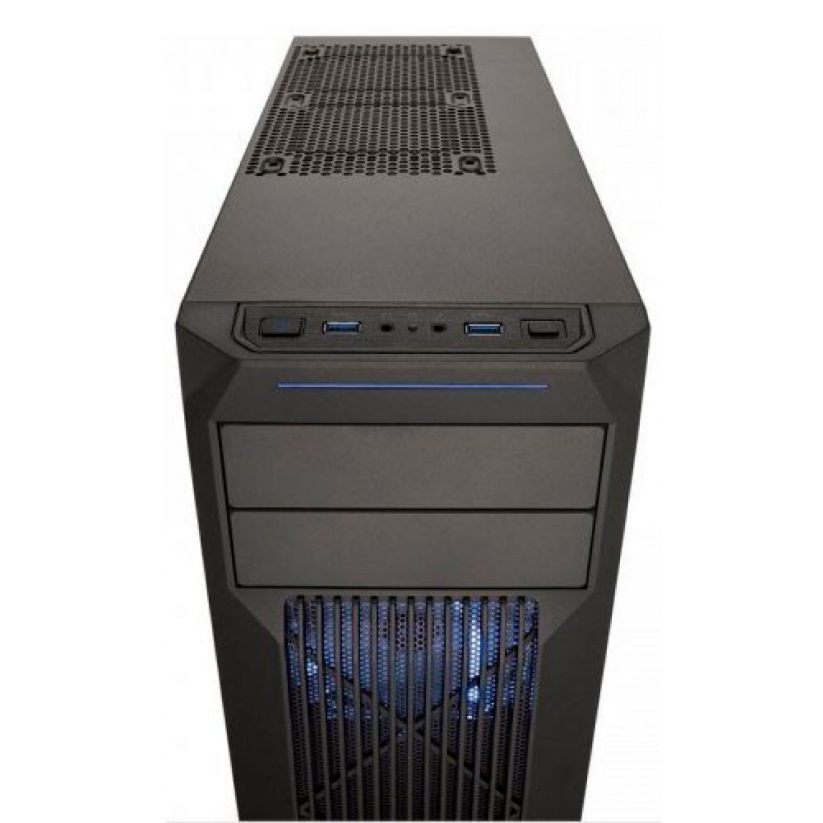 Gabinete Gamer Corsair Carbide SPEC-02, Mid Tower, Com 2 Fans, Lateral em Acrílico, Black, Sem Fonte, CC-9011057-WW