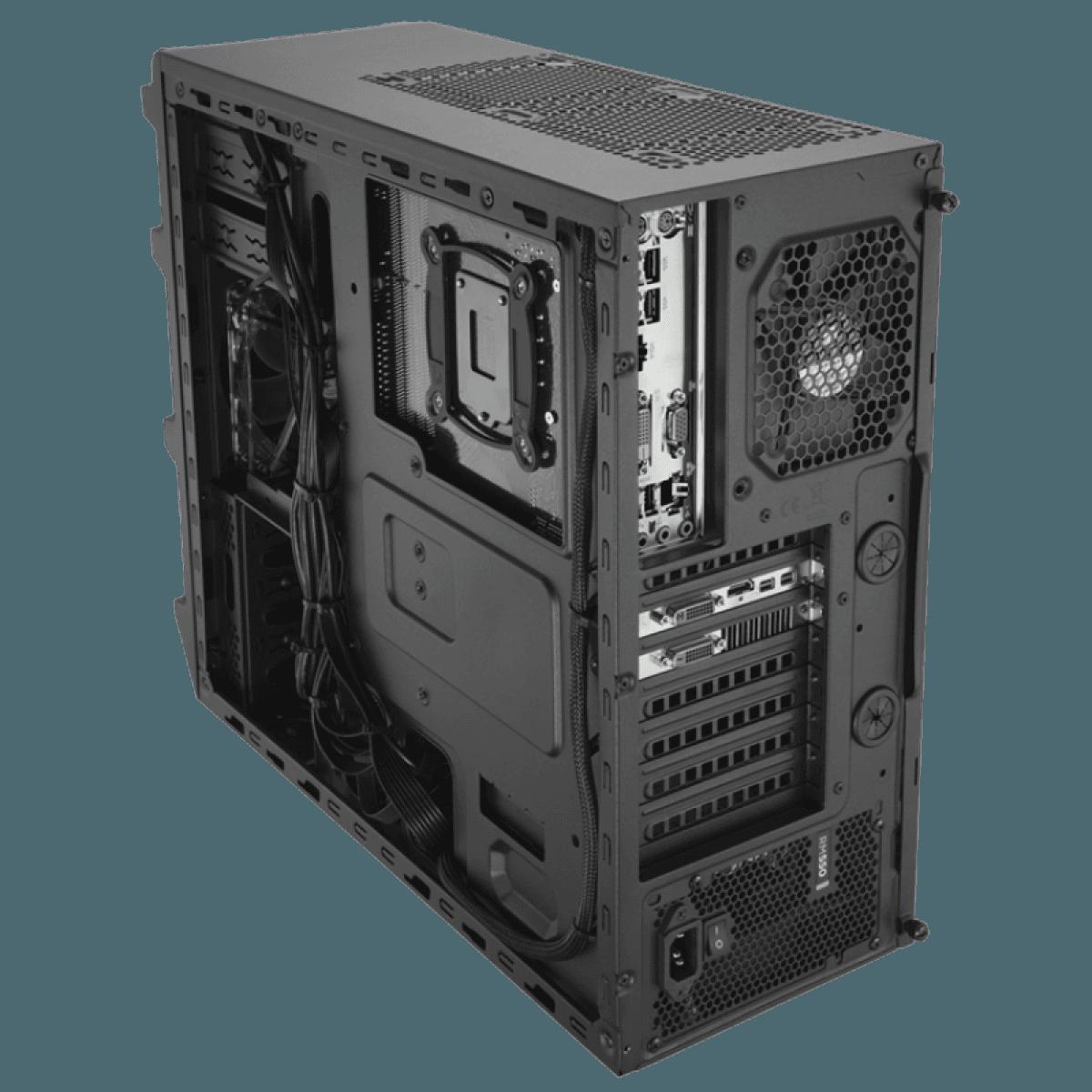 Gabinete Gamer Corsair Carbide SPEC-03, Mid Tower, Com 2 Fans, Lateral em Acrílico, Black, Sem Fonte, CC-9011052-WW