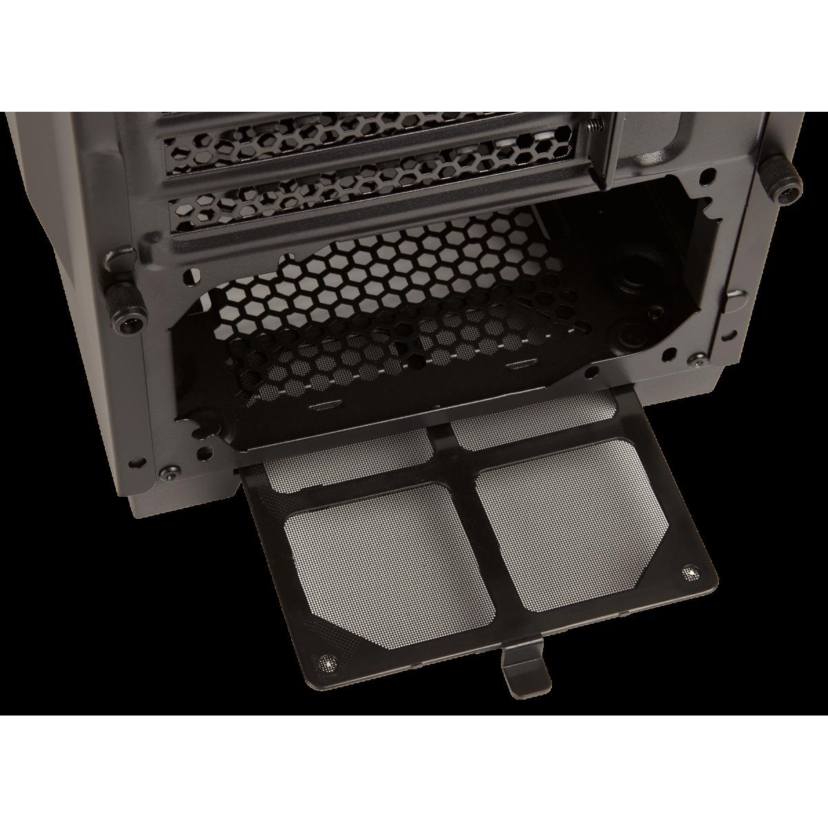Gabinete Gamer Corsair Carbide SPEC-04 Mid Tower, Com 1 Fan, Lateral em Acrílico, Black-Grey, Sem Fonte, CC-9011109-WW