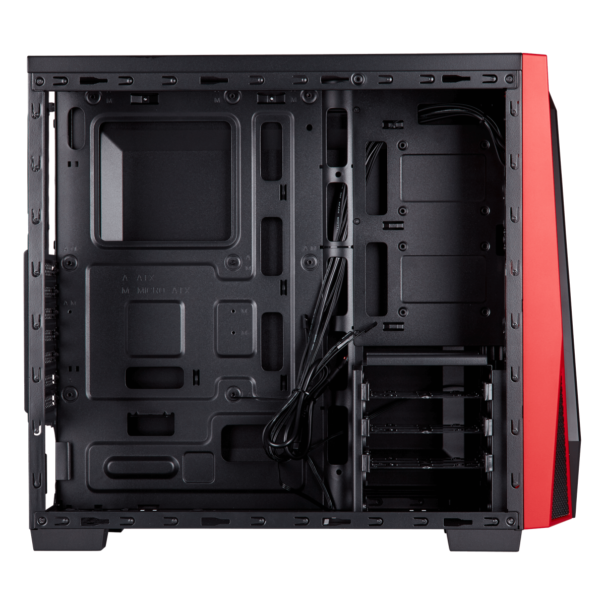 Gabinete Gamer Corsair Carbide SPEC-04, Mid Tower, Com 1 Fan, Lateral em Acrílico, Black-Red, Sem Fonte, CC-9011107-WW