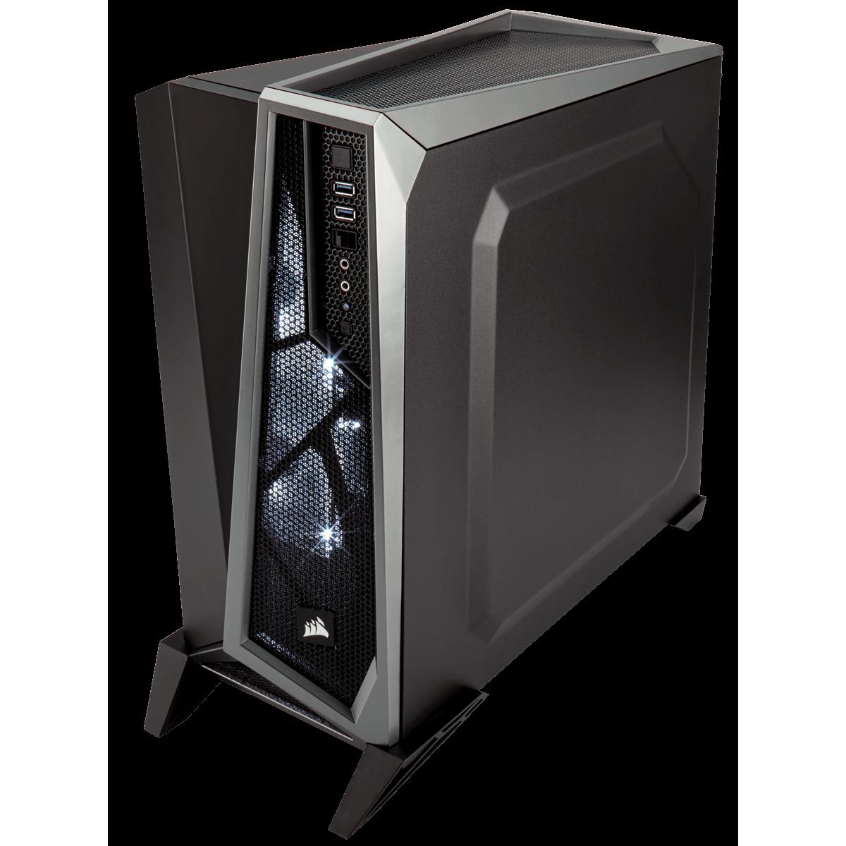 Gabinete Gamer Corsair Carbide Spec Alpha, Mid Tower, Com 3 Fans, Lateral em Acrílico, Black-Grey, Sem Fonte, CC-9011084-WW