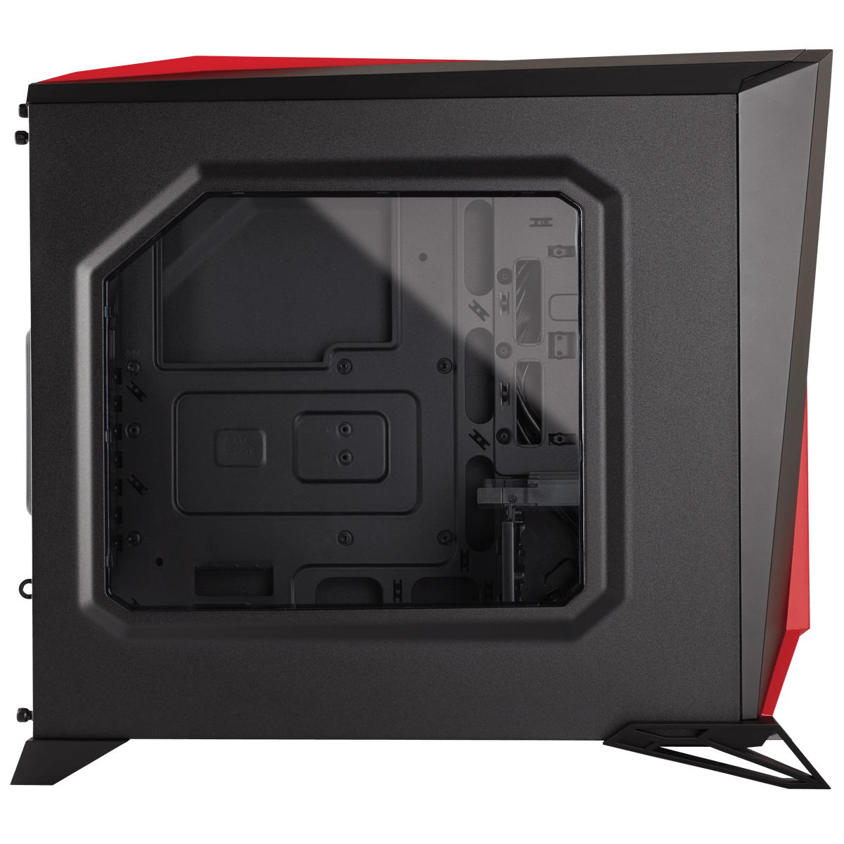 Gabinete Gamer Corsair Carbide Spec Alpha, Mid Tower, Com 3 Fans, Lateral em Acrílico, Black-Red, Sem Fonte, CC-9011085-WW