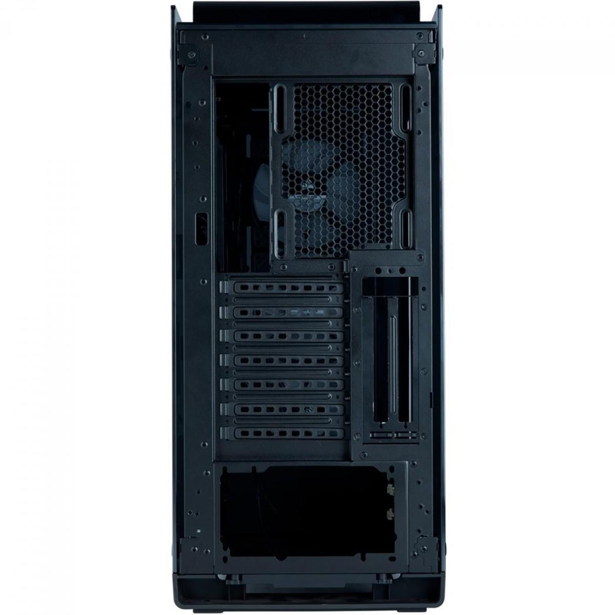 Gabinete Corsair Crystal 570X RGB, Mid Tower, Vidro Temperado, ATX, Mirror Black, Com 3 Fans, Sem Fonte, CC-9011126-WW