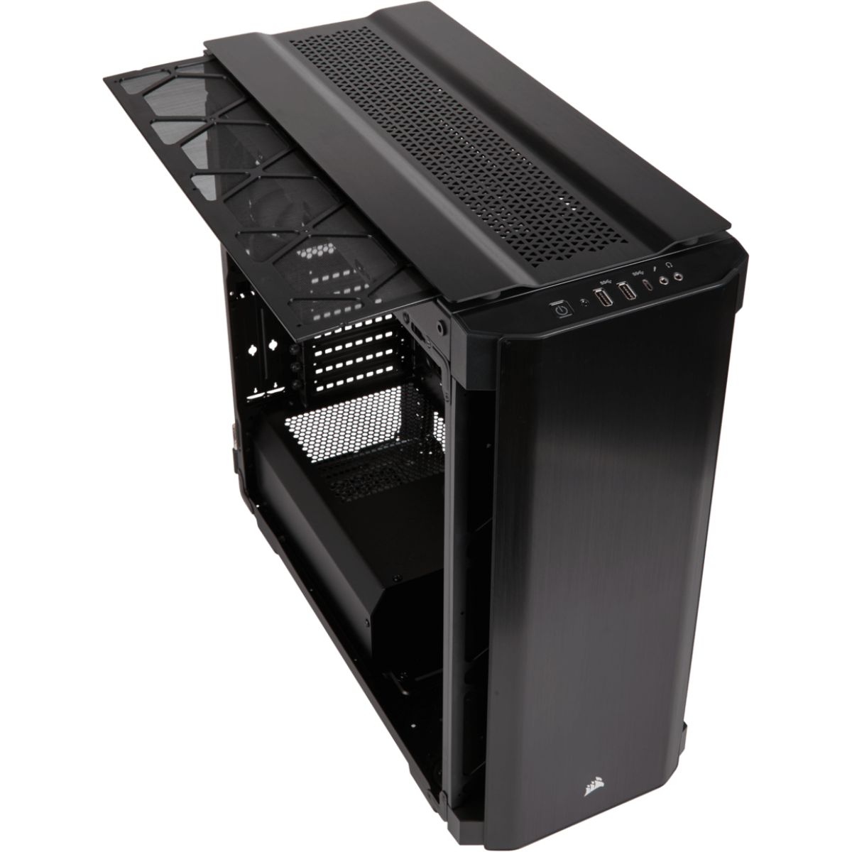 Gabinete Gamer Corsair Obsidian 500D, Mid Tower, Com 2 Fans, Vidro Temperado, Black, Sem Fonte, CC-9011116-WW