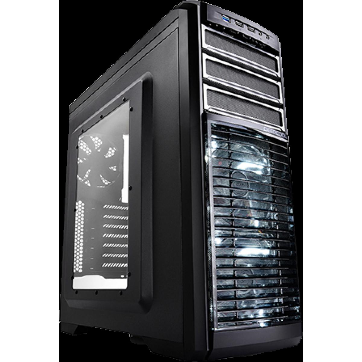 Gabinete Gamer DeepCool Kendomen Titanium, Mid-Tower, Com 5 Fans, Black, Sem Fonte, DP-CCATX-KDM5FBKTI