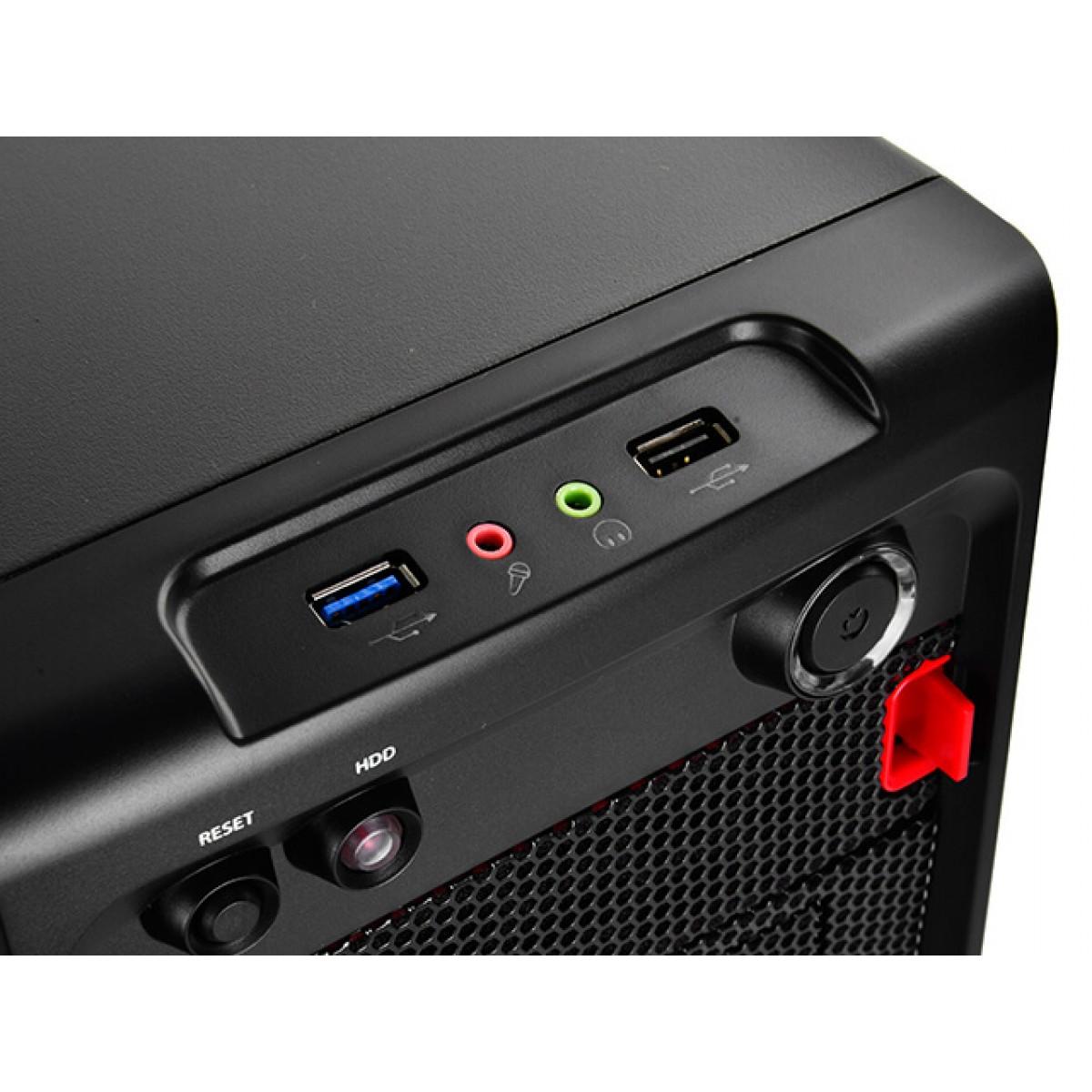 Gabinete Gamer DeepCool Smarter M, Mini Tower, Black, Sem Fonte, DP-MATX-SMTR